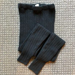 Mossimo Supply Co. black cable-knit leggings